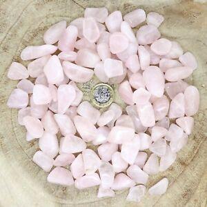 100 x Rose Quartz Crystals Tumblestones Seconds 447g-500g Reiki Healing