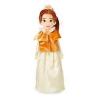 "BNWT Shop Disney Store Soft Plush 18"" BELLE Beauty & The Beast Winter Doll"