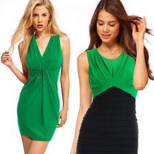 Polyester V Neck Stretch, Bodycon Casual Dresses