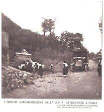 PUBBLICITA' 1918 SPA AUTOBUS OMNIBUS FONTANA CENTRACHE CATANZARO CHIARAVALLE