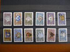 Série complète Théières 2018 , 12 timbres