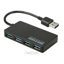 High Speed 4 Port USB 3.0 Multi HUB Splitter Expansion Cable Laptop PC Adapter
