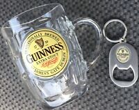 Great Gift - GUINNESS Beer Glass Stein with Matching Key BOTTLE OPENER Set