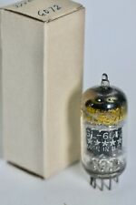 1952 NOS GE FIVE-STAR GL-6072 LOW NOISE 12AY7 BLACKPLATE 3-MICA TUBE LEAR-JET