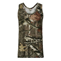 Mens Camouflage Camo VEST Top T-Shirt Hunter Real Tree Jungle Forest Print