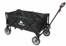Wagon Cart Folding Collapsible Garden Beach Utility Outdoor Buggy Camping Black