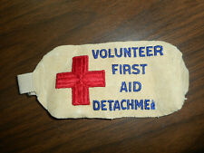 Vintage American Red Cross Volunteer First Aid Detachment Arm Band Patch