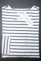 SALE Lacoste Mens Slim Fit Navy Striped High Twisted Cotton Henley Shirt L 5