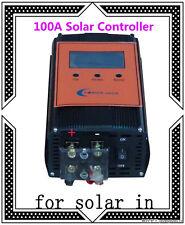 """2400W 100AMP Smart Solar Controller,DC 12V / 24V,3.5""""LCD,For 18V-54V Solar Panel"""