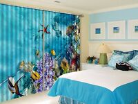 3D Sea Fish 689 Blockout Photo Curtain Printing Curtains Drapes Fabric Window UK