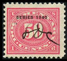 R274 REVENUE Documentary 50c Rose SERIES 1940 OVERPRINT Used SEE PHOTOS D-465