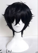 Persona 5 Joker Kurusu Akira Wig Styled Short Black Cosplay wig + wig cap