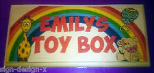Girls Toy Box Plaque / Sign - Craft Gift - PERSONALISED Kids Daughter Bedroom