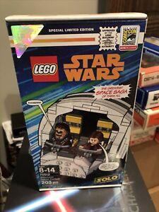 2018 SDCC EXCLUSIVE LEGO STAR WARS MILLENNIUM FALCON COCKPIT Han Solo Chewbacca