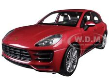 PORSCHE MACAN TURBO RED 1/24 DIECAST MODEL CAR BY WELLY 24047