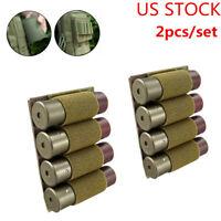 2pcs Tactical 4 Rounds Loop Shotgun Shell Bullet 12Ga Ammo Carrier Holder Pouch