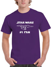 STAR WARS #1 FAN Mens T-shirt, Star Trek NCC-1701 Starship Enterprise Tee