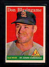 1958 TOPPS #199 DON BLASINGAME EX D9801