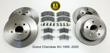 For Jeep Grand Cherokee WJ Front & Rear Brake Discs & Pads 1999-2004