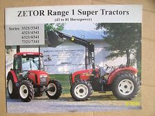 Original Vintage Zetor Range 1 Super Tractors Booklet