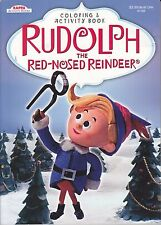 Christmas Rudolph the Red-Nosed Reindeer Coloring Book ~ Hermey on Blue
