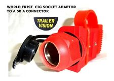 Trailer Vision RED Cig Socket Adaptor to 50A Anderson Style Connector