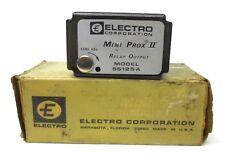 ELECTRO CORPORATION MINI PROX II RELAY OUTPUT MODEL 55125A