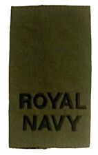 NEW Royal Navy' epaulettes [pair]. Subdued. Rank Slides
