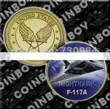 U.S. United States Air Force USAF | F-117A Nighthawk | Military Gold Plated Coin