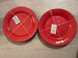 Tommy Bahama set of 8  red melamine plates