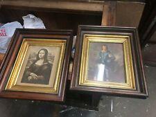 "pair gorgeous vintage black walnut & gold picture art frame 15/13"" - 8/10"" art"