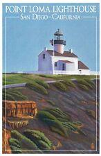 Point Loma Lighthouse, San Diego California, CA Light Museum --- Modern Postcard