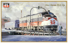 New Haven RR New Haven Pickup Wood Plaque-Sign /Man Cave/Train & Kids Room