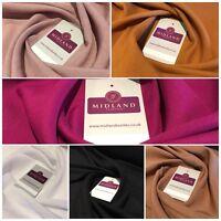 """Plain Soft Spun Rayon Viscose Fabric 58"""" MA815 Mtex"""