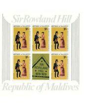 VINTAGE CLASSICS - MALDIVES SC# 794-8 Sir Rowland Hill Set of 5 Mini Sheets MNH