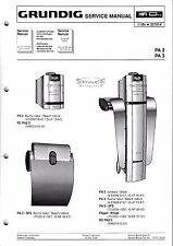 Service Manual-Anleitung für Grundig PA 2, PA 3