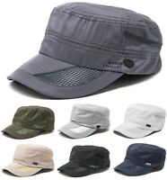 Men's Classic Summer Army Hat Military Cadet Patrol Style Brim Spring Summer Cap