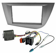Radioblende Set für SEAT Leon 1P 2004-2009 CANBUS Adapter 2DIN Blende anthrazit