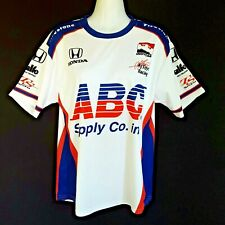 ABC Supply Nascar Indy Racing Jersey Shirt SATO #14 Made in USA Women's XS
