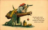 POSTCARD- DISNEYLAND-NEW ORLEANS SQUARE-PIRATES OF CARIBBEAN-CANNON & POEM BK21