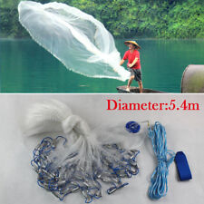 6.6m Wurfnetz Fischernetz Fisch Netz Angelnetz Abfischen Forelle Zander Cast Net