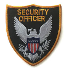 Ecusson brodé thermocollant agent de securité security officer patch
