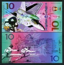USA, $10, Private Issue Polymer Banknote, 2017, Fighter Jet, F-22, Army