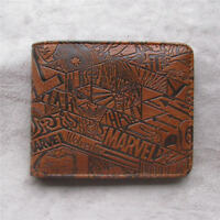 High Quality Marvel money clip Bifold Men Wallet Credit Card Holder Coin Purse