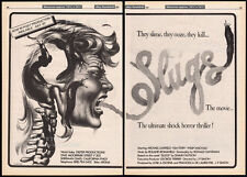 SLUGS: THE MOVIE__Original 1987 Cannes Trade AD promo / poster__Post Production