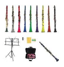 New Merano BB Clarinet+Music Stand~Black White Red Pink Blue Purple Green Yellow