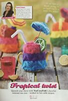 KNITTING PATTERN Summer Cocktail Design Tea Cosy Fruit Slices Cable Hayfield DK