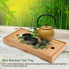 Bamboo Tea Tray Drainage Water Storage Kung Fu GongFu Tea Table Serving Tray New