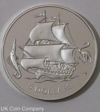 1993 Bahamas Silver $5 Five Dollars Proof Coin