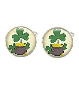 Irish Luck Mens Cufflinks Ideal Wedding Birthday Fathers Day Gift C386